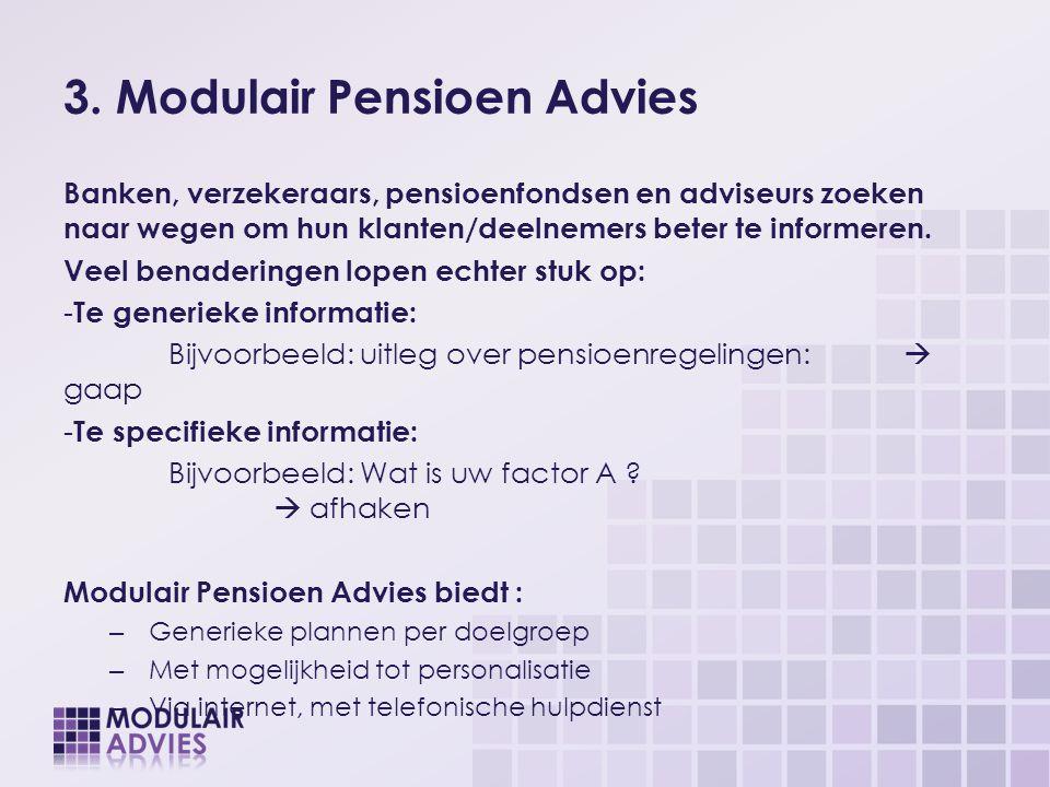 3. Modulair Pensioen Advies