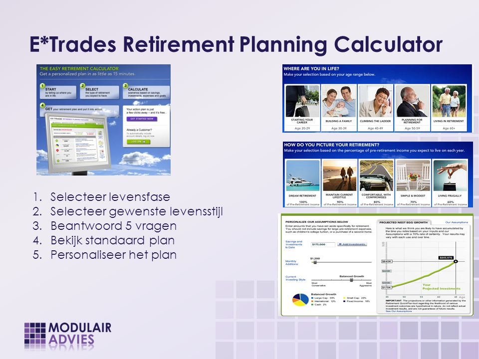 E*Trades Retirement Planning Calculator