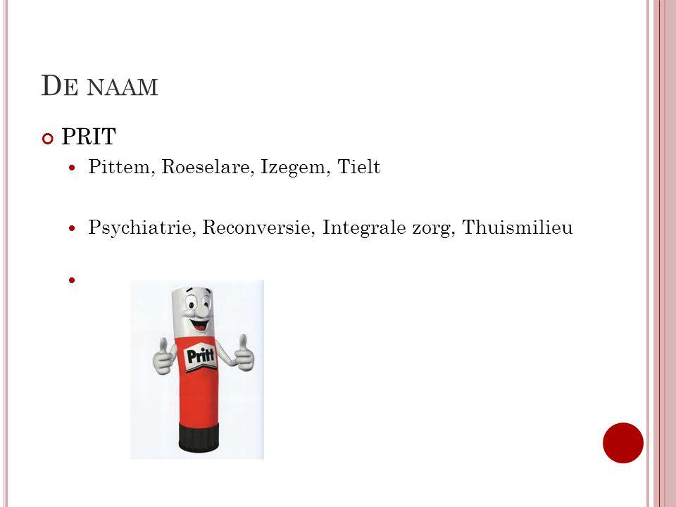 De naam PRIT Pittem, Roeselare, Izegem, Tielt