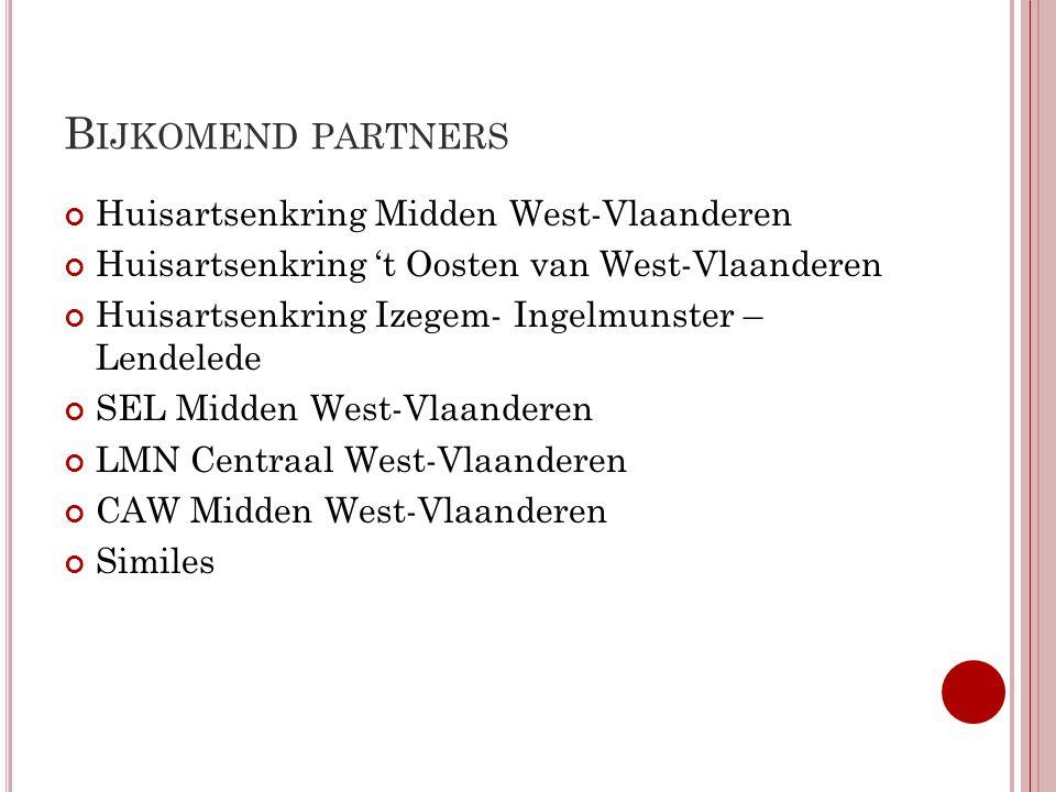 Bijkomend partners Huisartsenkring Midden West-Vlaanderen
