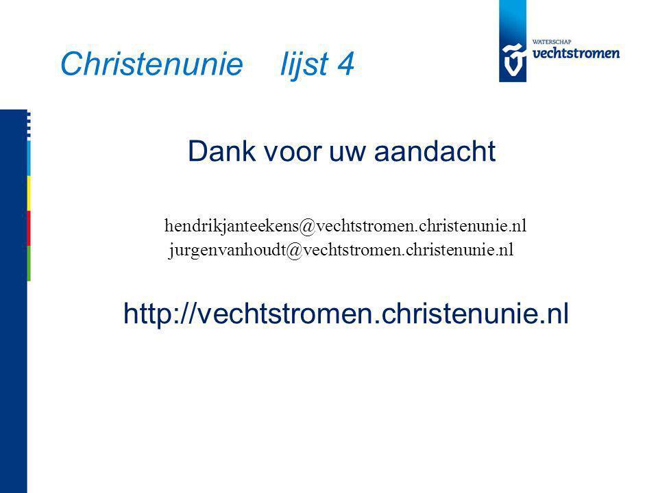 Christenunie lijst 4
