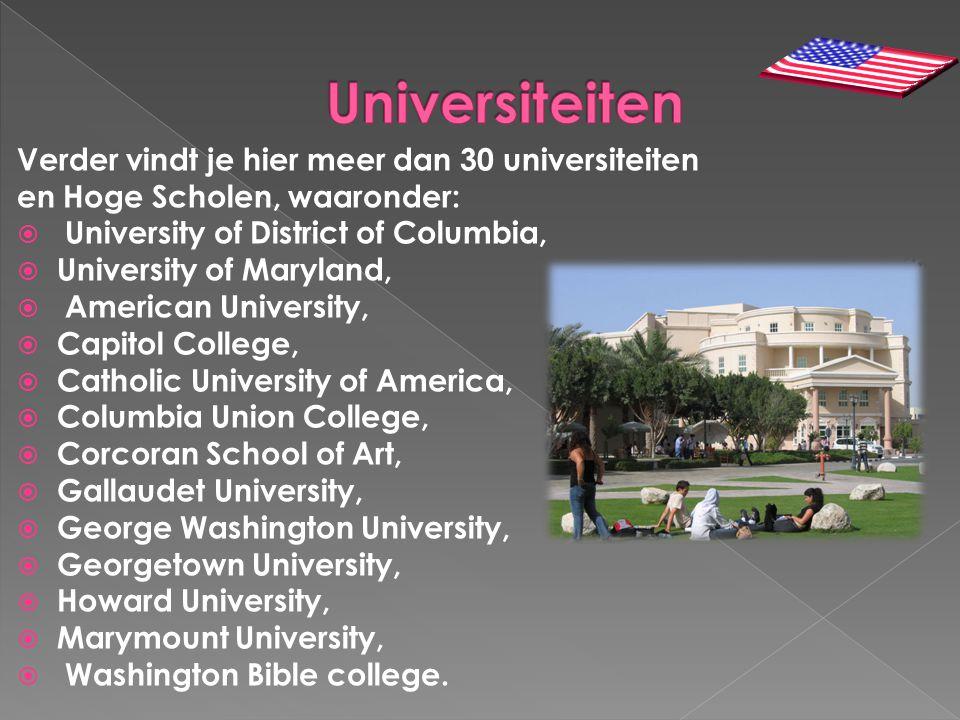 Universiteiten Verder vindt je hier meer dan 30 universiteiten