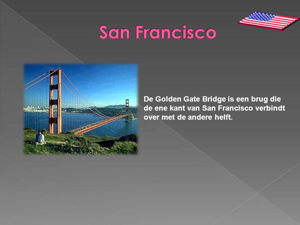 San Francisco De Golden Gate Bridge is een brug die de ene kant van San Francisco verbindt over met de andere helft.