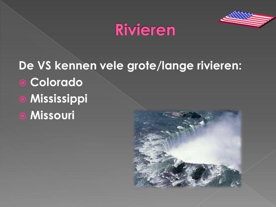 Rivieren De VS kennen vele grote/lange rivieren: Colorado Mississippi