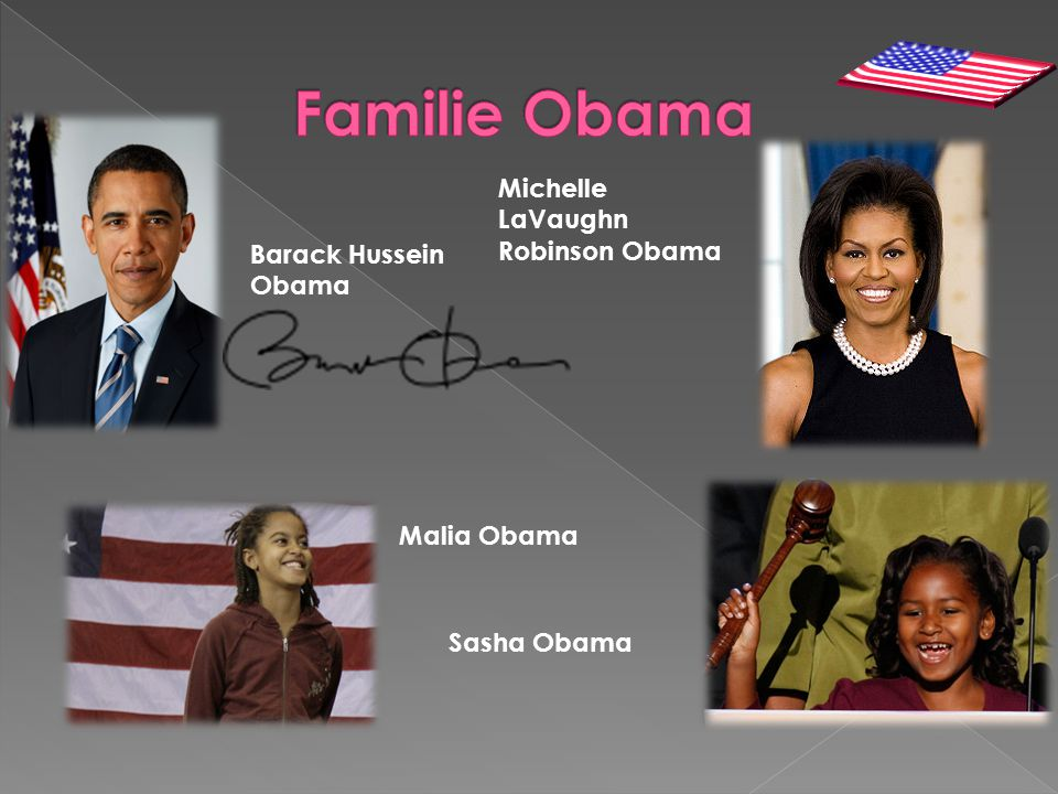 Familie Obama Michelle LaVaughn Robinson Obama Barack Hussein Obama