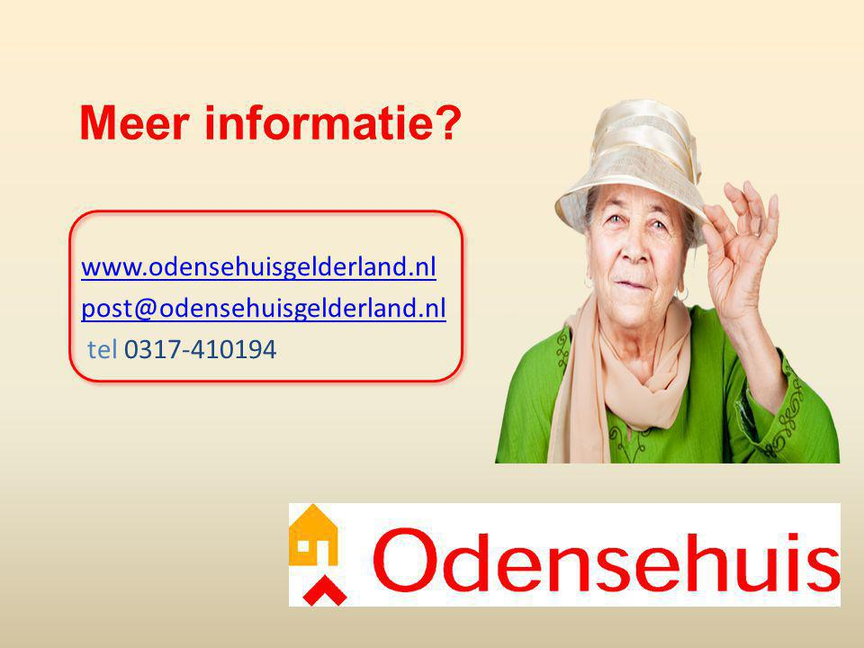 Meer informatie www.odensehuisgelderland.nl