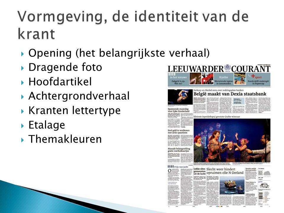 Vormgeving, de identiteit van de krant