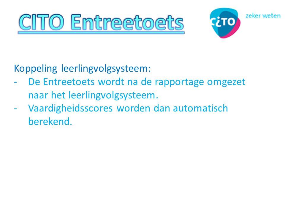 CITO Entreetoets Koppeling leerlingvolgsysteem: