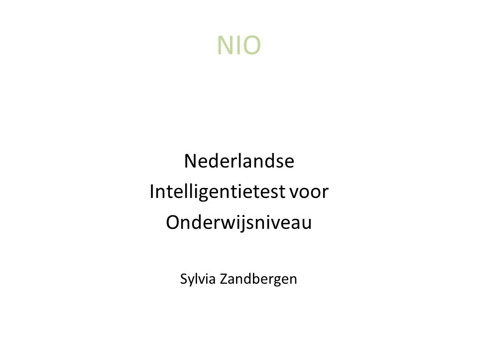 Intelligentietest voor