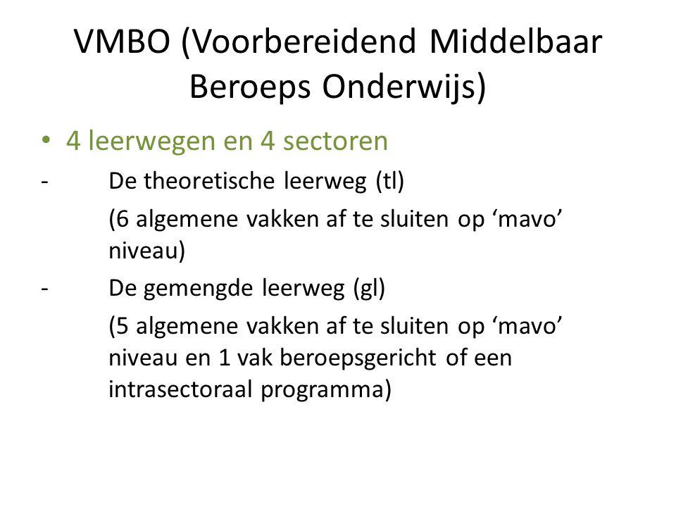 VMBO (Voorbereidend Middelbaar Beroeps Onderwijs)