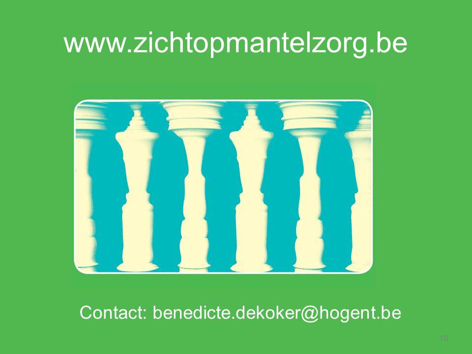 Contact: benedicte.dekoker@hogent.be