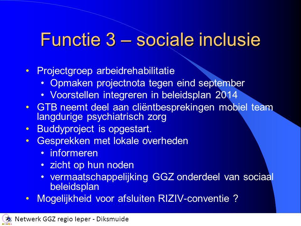 Functie 3 – sociale inclusie