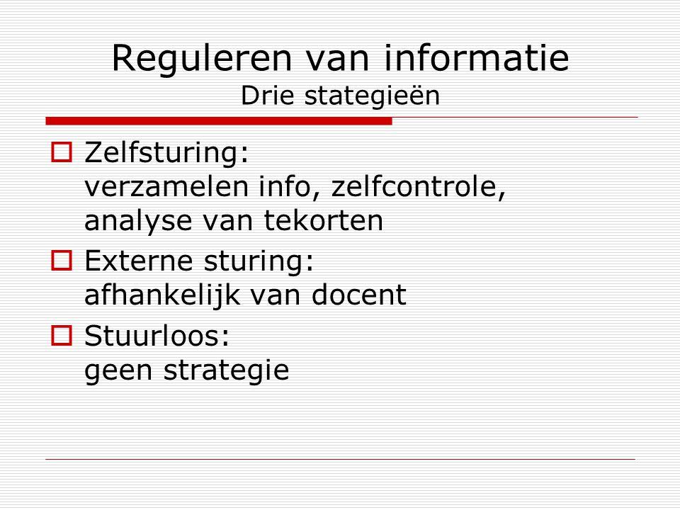 Reguleren van informatie Drie stategieën