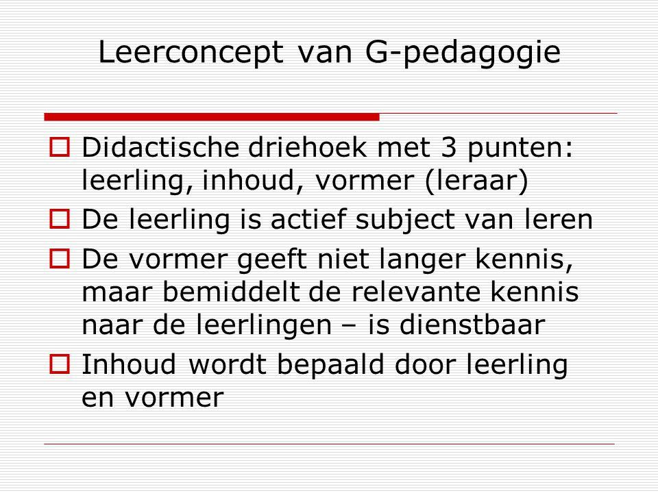 Leerconcept van G-pedagogie