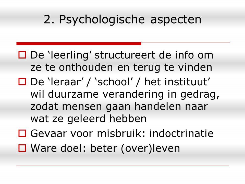 2. Psychologische aspecten