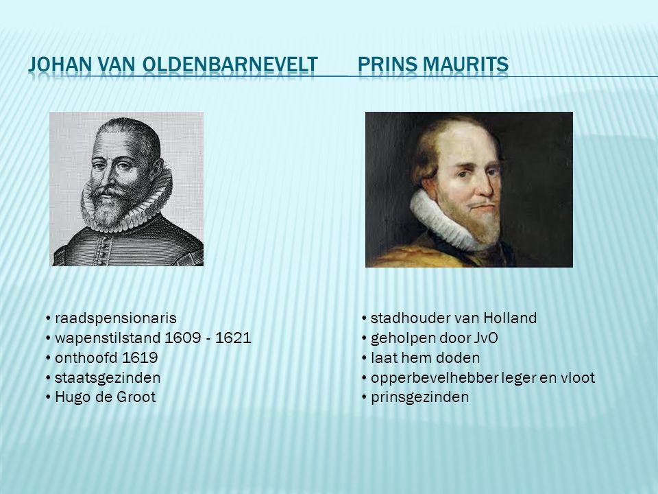 Johan van Oldenbarnevelt Prins Maurits