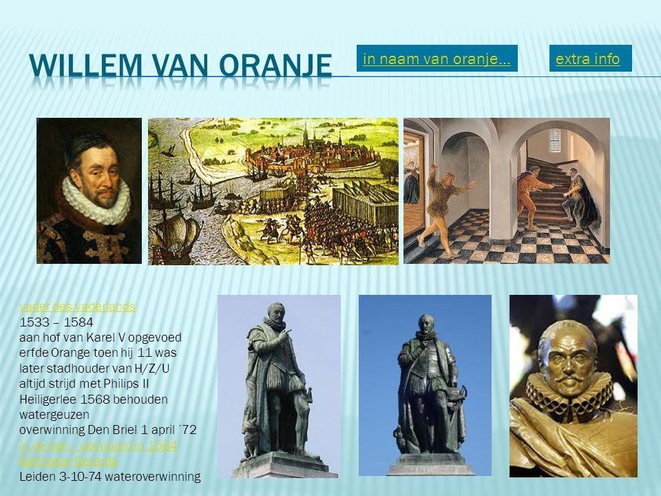Willem van Oranje in naam van oranje... extra info