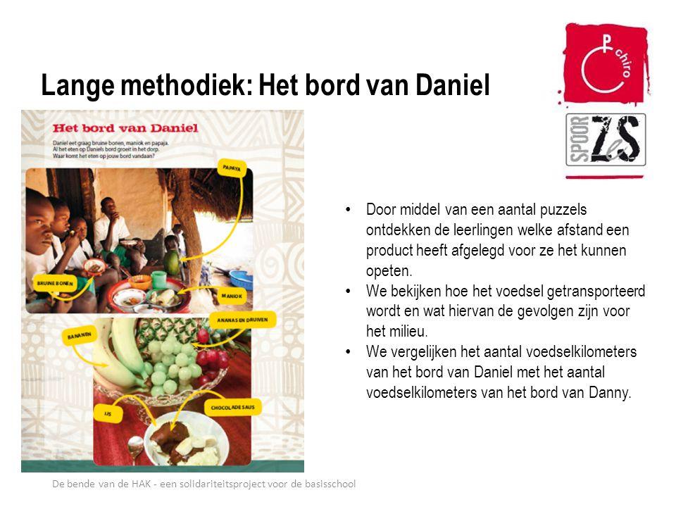 Lange methodiek: Het bord van Daniel