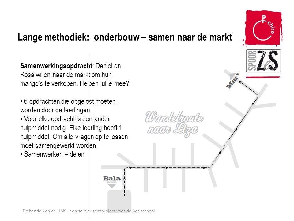 Lange methodiek: onderbouw – samen naar de markt