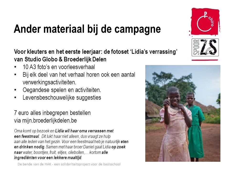 Ander materiaal bij de campagne