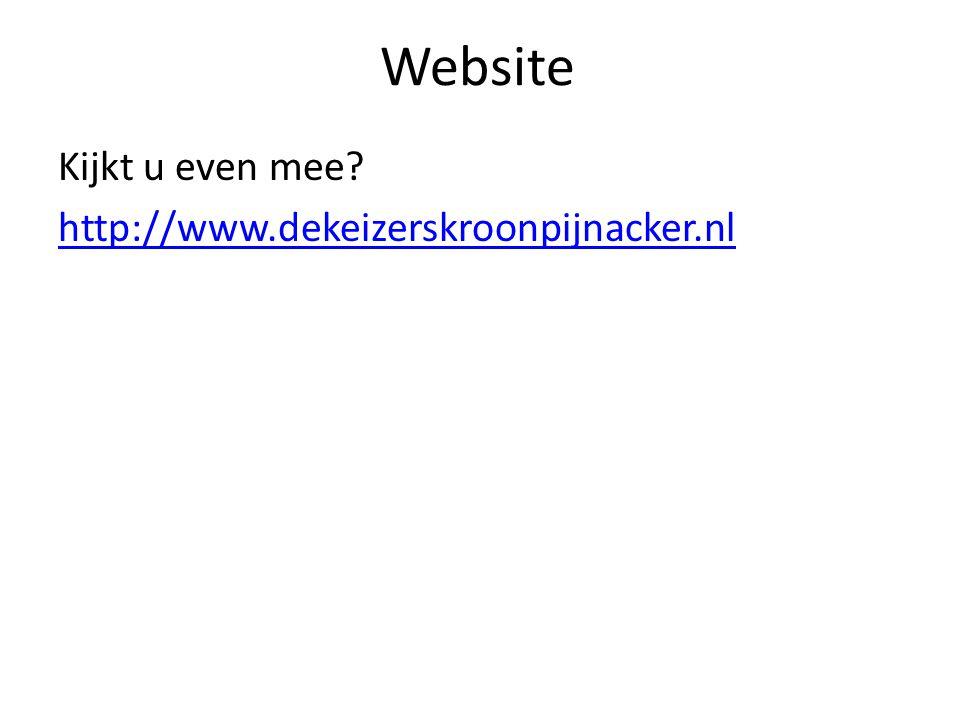 Website Kijkt u even mee http://www.dekeizerskroonpijnacker.nl