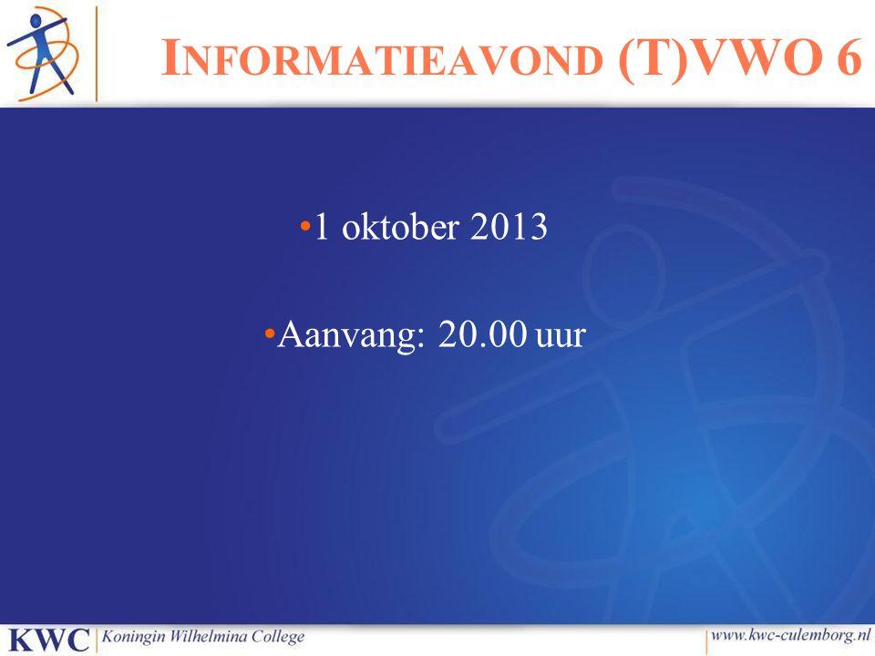 Informatieavond (T)VWO 6