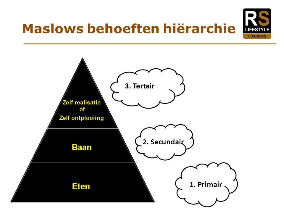 Maslows behoeften hiërarchie