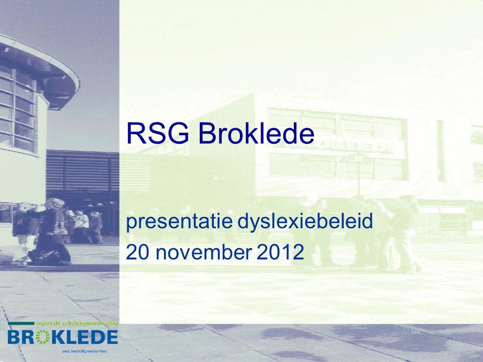 presentatie dyslexiebeleid 20 november 2012
