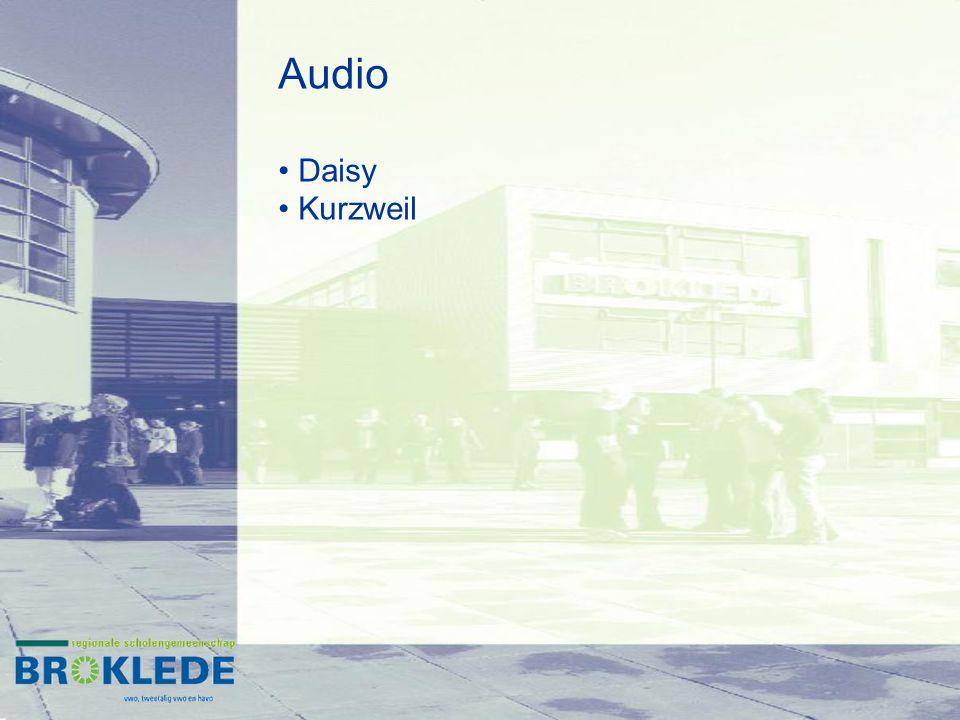 Audio Daisy Kurzweil