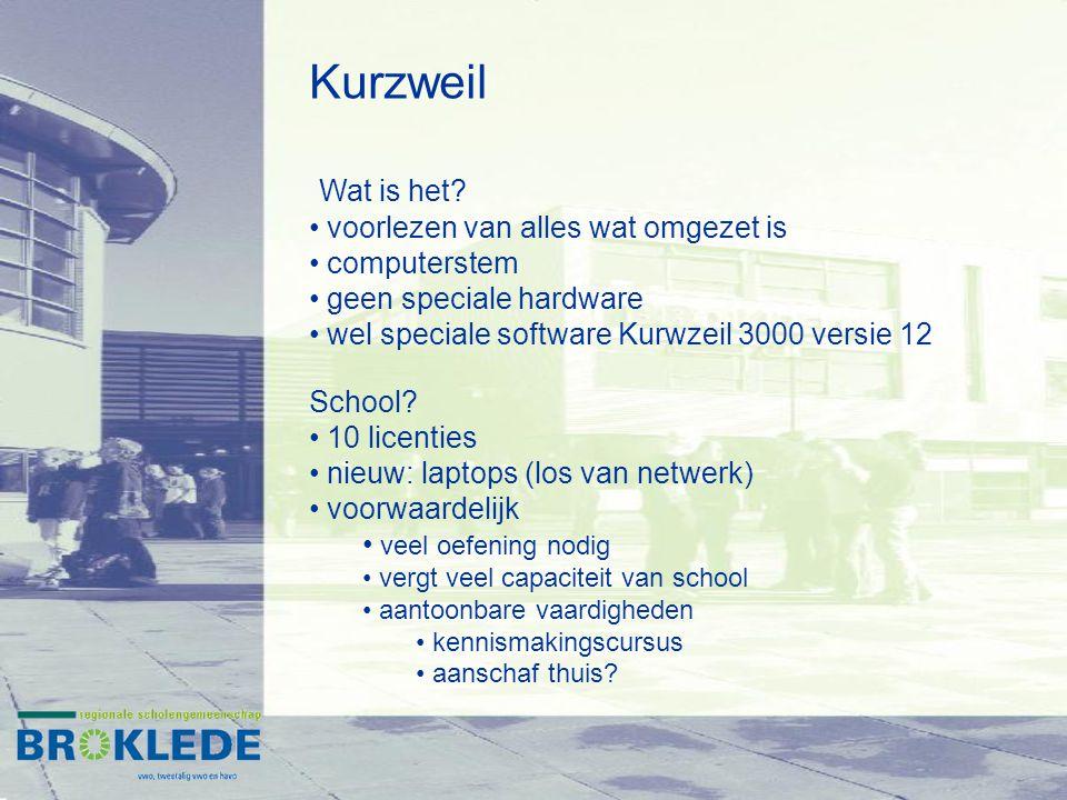 Kurzweil Wat is het voorlezen van alles wat omgezet is computerstem