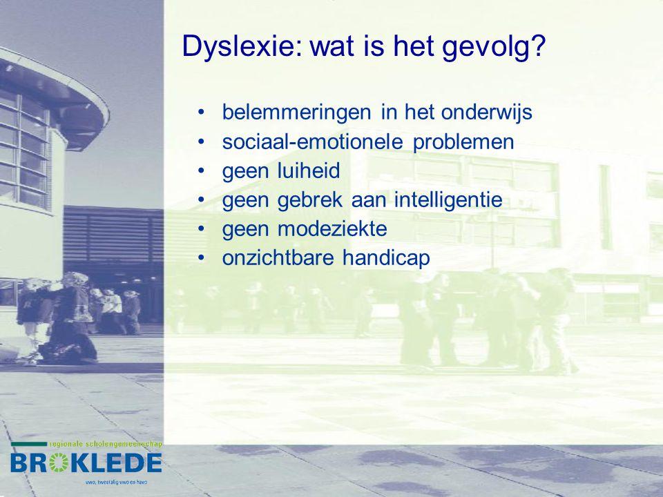 Dyslexie: wat is het gevolg