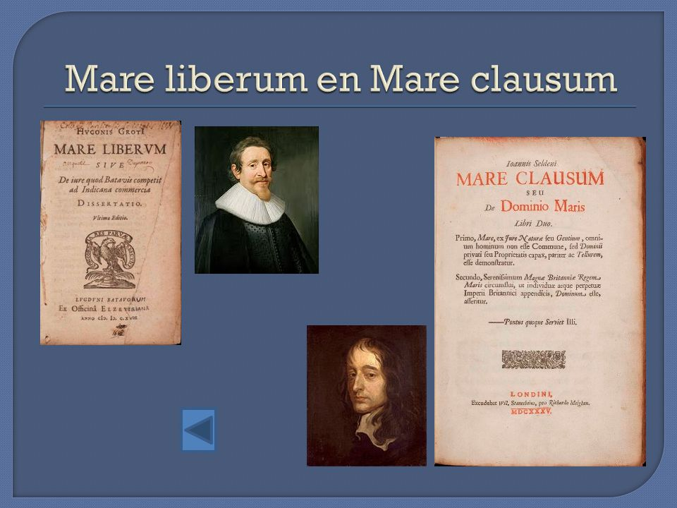 Mare liberum en Mare clausum