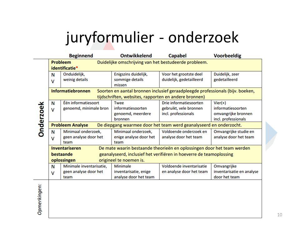 juryformulier - onderzoek