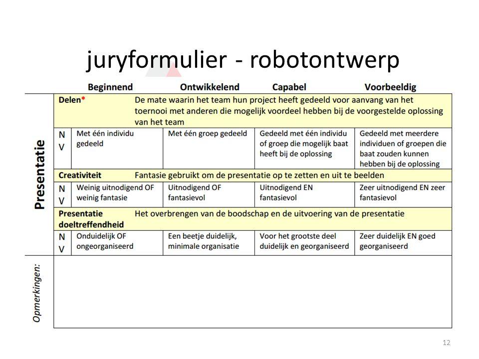 juryformulier - robotontwerp