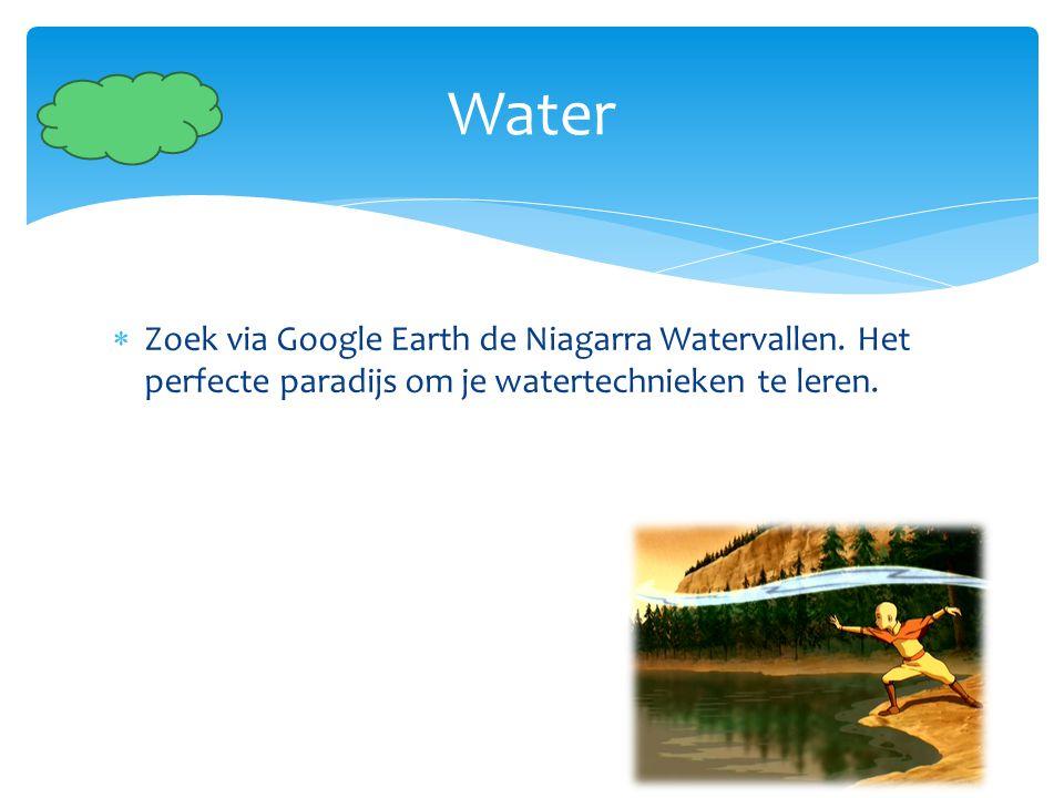 Water Zoek via Google Earth de Niagarra Watervallen.