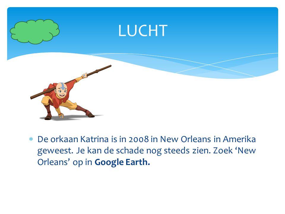 LUCHT De orkaan Katrina is in 2008 in New Orleans in Amerika geweest.