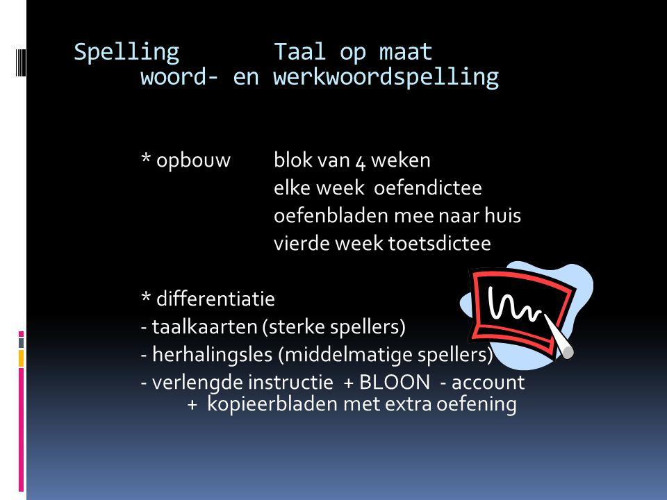 Spelling Taal op maat woord- en werkwoordspelling