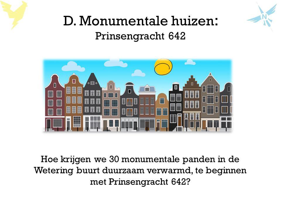 D. Monumentale huizen: Prinsengracht 642