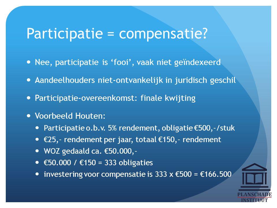 Participatie = compensatie