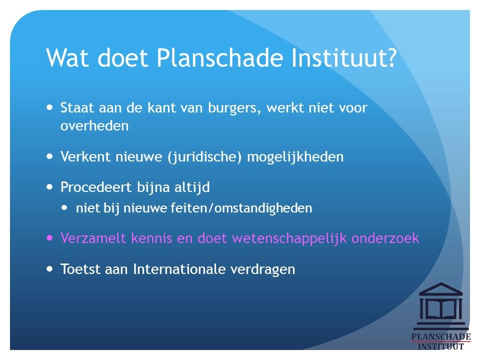 Wat doet Planschade Instituut