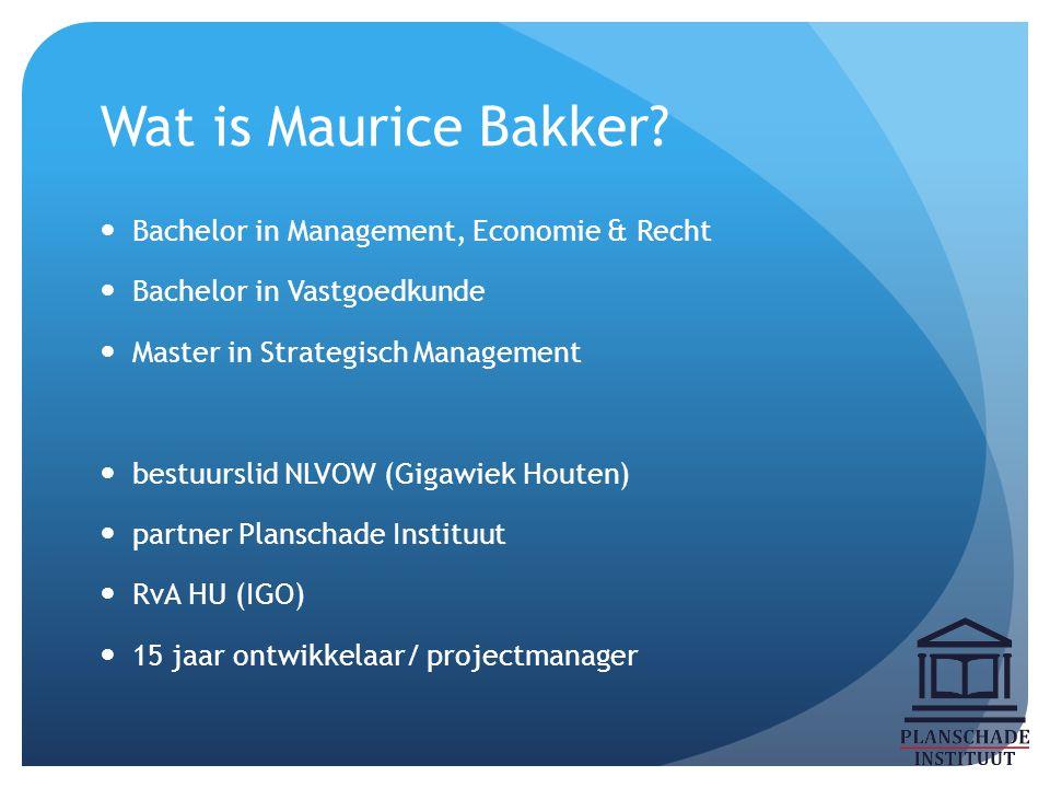 Wat is Maurice Bakker Bachelor in Management, Economie & Recht