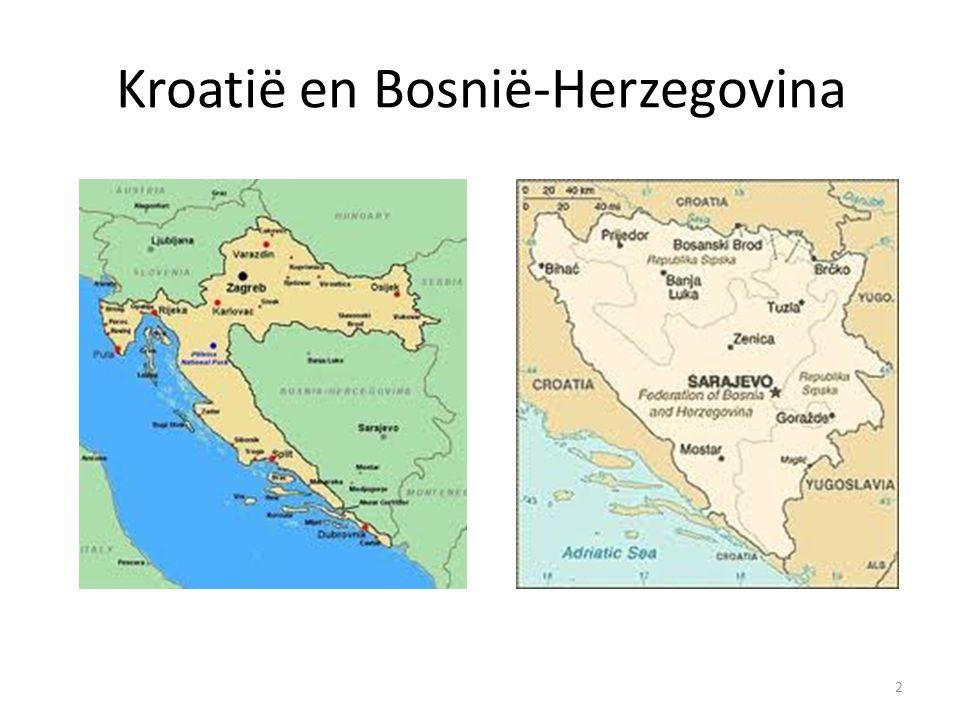 Kroatië en Bosnië-Herzegovina