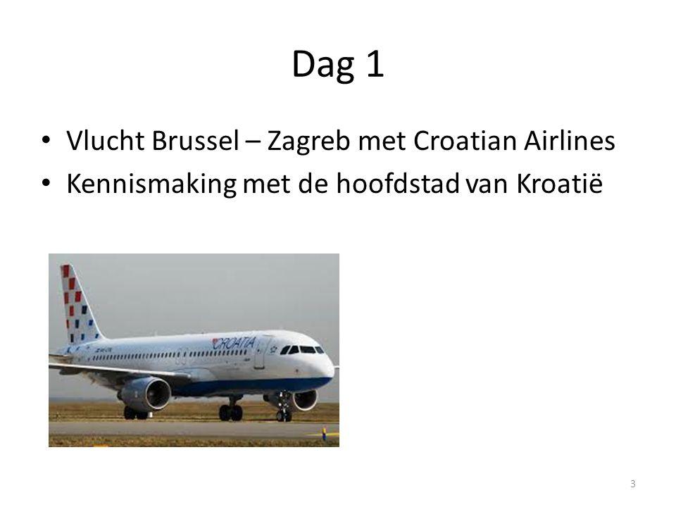 Dag 1 Vlucht Brussel – Zagreb met Croatian Airlines