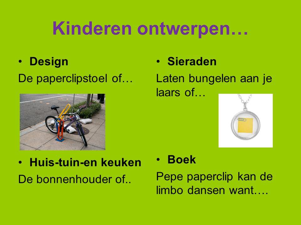 Kinderen ontwerpen… Design De paperclipstoel of… Huis-tuin-en keuken