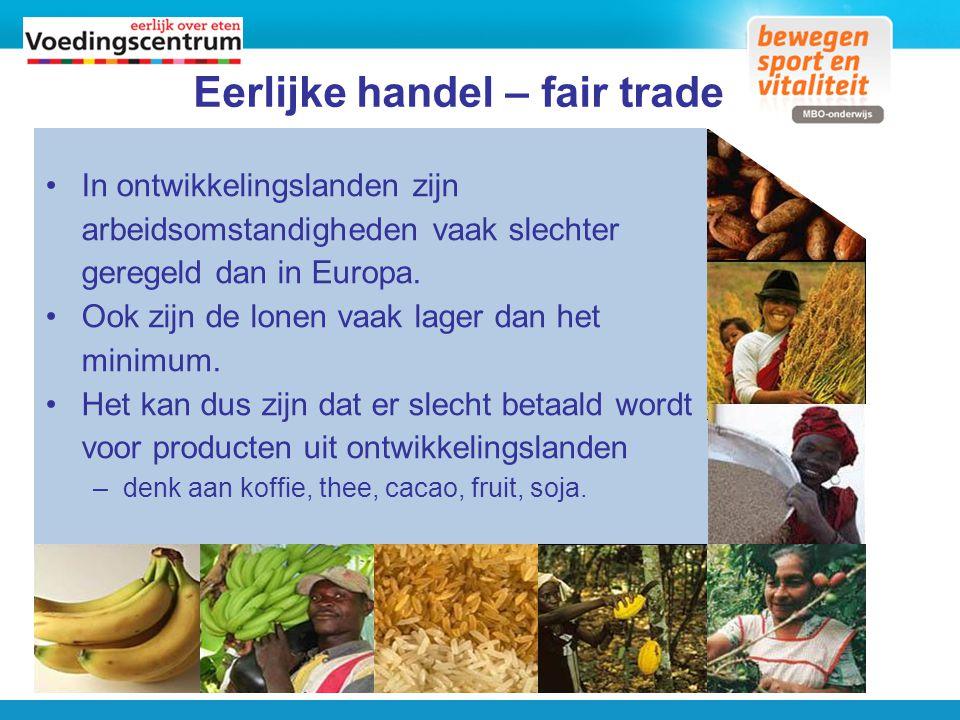 Eerlijke handel – fair trade