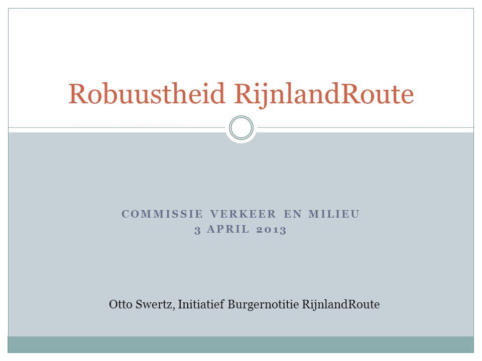 Robuustheid RijnlandRoute