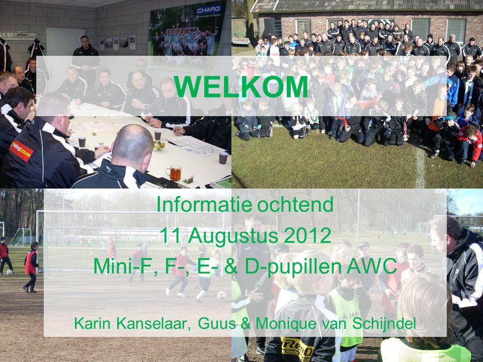 WELKOM AWC Voetbal Academie Informatie ochtend 11 Augustus 2012