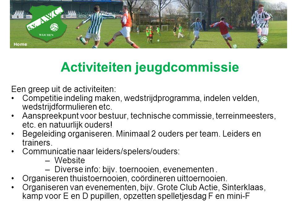 Activiteiten jeugdcommissie