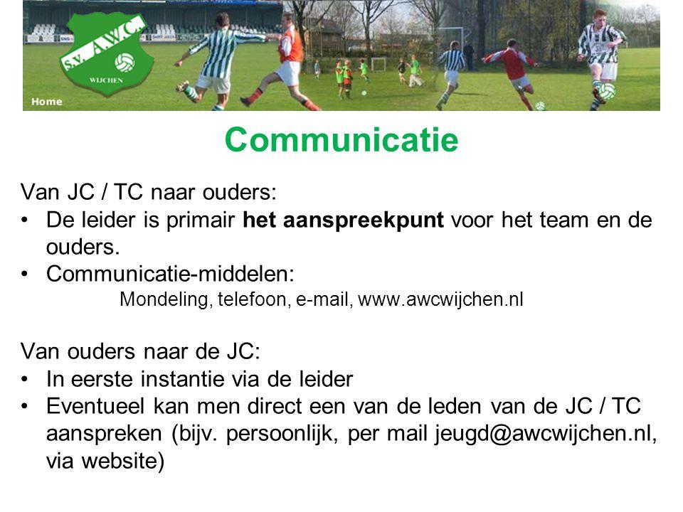 Communicatie Van JC / TC naar ouders:
