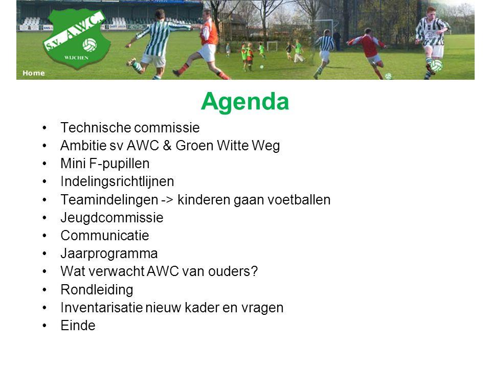 Agenda Technische commissie Ambitie sv AWC & Groen Witte Weg